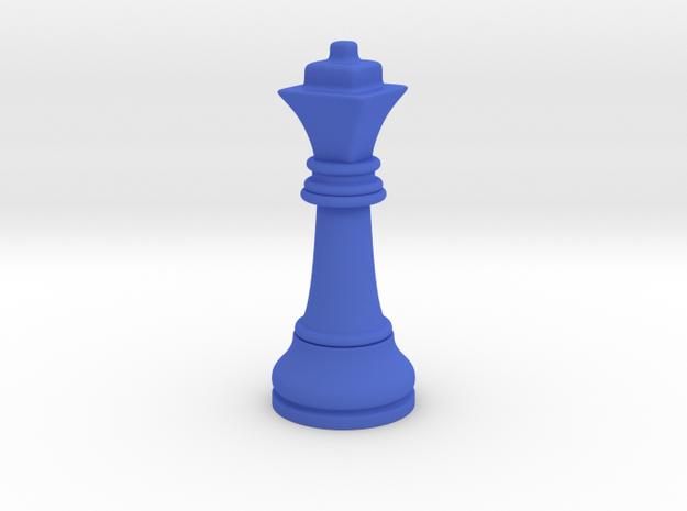 Single Chess Queen Big Square | Timur Ferz in Blue Processed Versatile Plastic