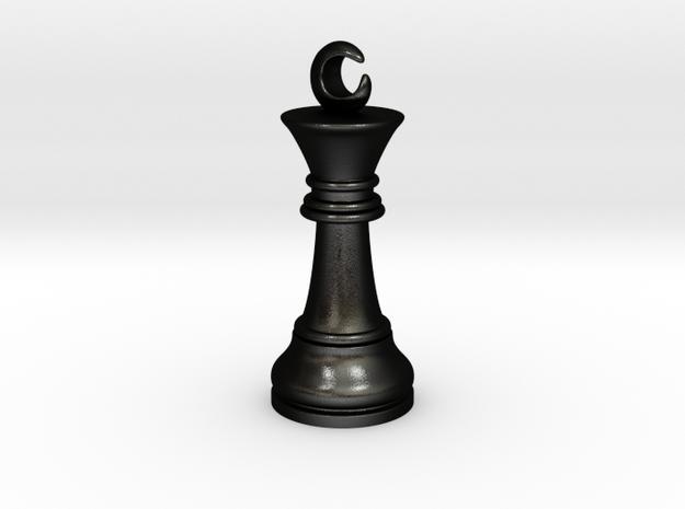 Single Chess King Moon Big / Timur Prince Ferz Viz in Matte Black Steel