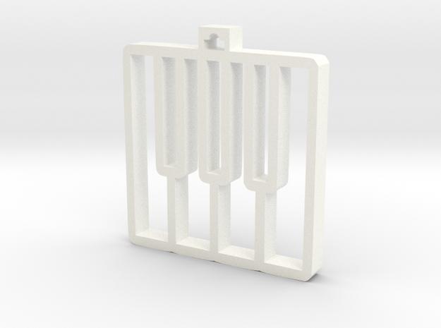 Piano Keys Pendant in White Processed Versatile Plastic