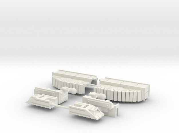 Brawl - Legs (Set 1 of 5) in White Natural Versatile Plastic