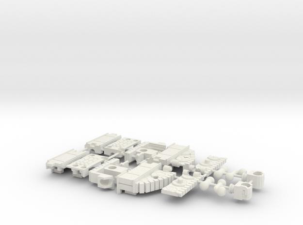 Brawl - Arms (Set 4 of 5) in White Natural Versatile Plastic