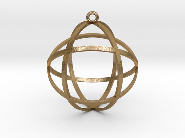 "Genesa Crystal 1.5"" in Polished Gold Steel"