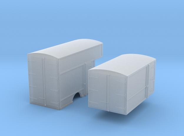 N-scale '30s Box Van Bodies in Smoothest Fine Detail Plastic