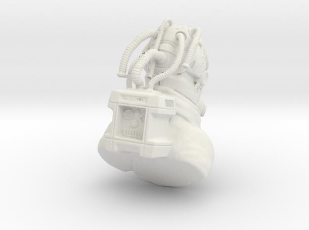 Arctic Soldier in White Natural Versatile Plastic
