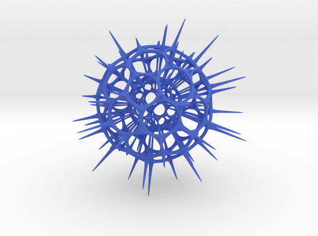 jamD Radiolarian 001 in Blue Strong & Flexible Polished