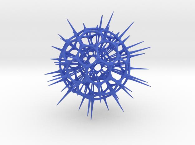 jamD Radiolarian 001 in Blue Processed Versatile Plastic