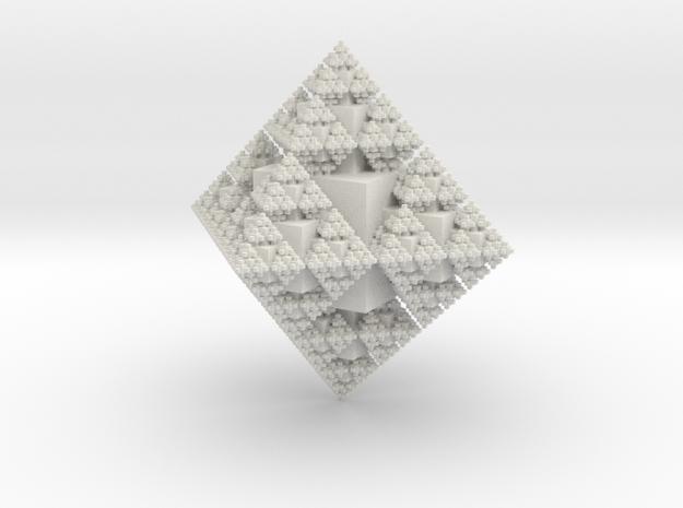 Fractal Crystal in White Natural Versatile Plastic