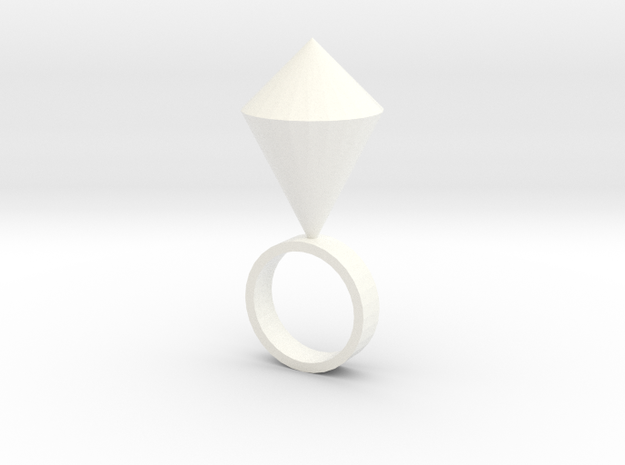 Single Kite in White Strong & Flexible Polished