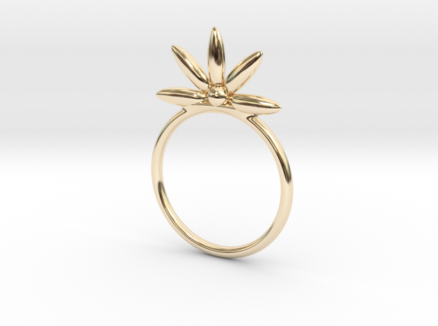 Flower Stacking Ring in 14K Yellow Gold