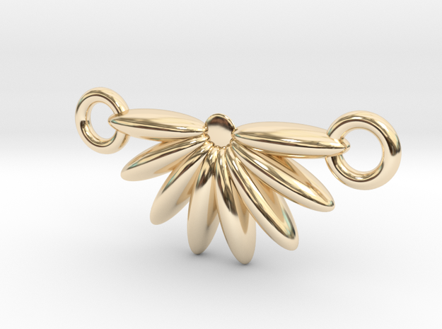 Demi Flower Pendant  in 14K Yellow Gold