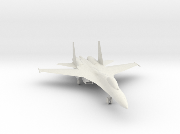 SU-27 version 2 in White Natural Versatile Plastic