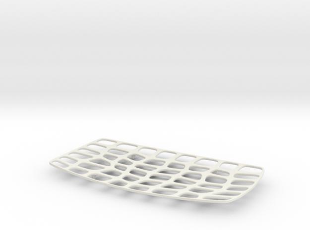 Platter - 01 in White Natural Versatile Plastic