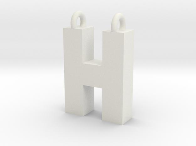 Alphabet (H) in White Strong & Flexible