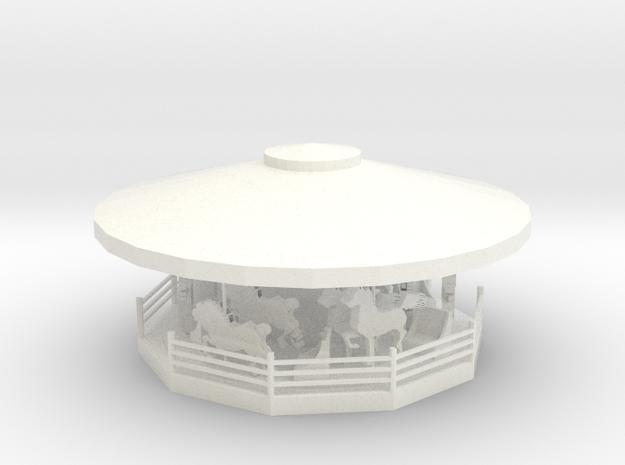 MerryGoRound - HO 87:1 Scale in White Processed Versatile Plastic