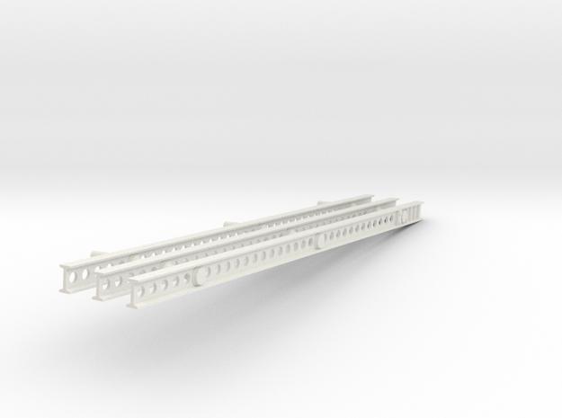 1-25 Katyusha Left Rails in White Natural Versatile Plastic