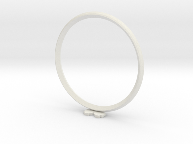 Pixel heART ring in White Strong & Flexible