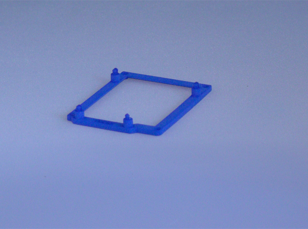 Low desktop stand for Arduino Uno / Leonardo / Yun 3d printed Printed in Royal Blue Strong & Flexible
