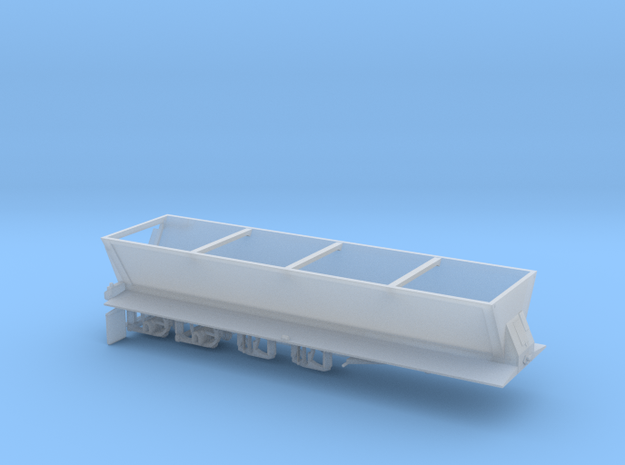 1/64th Trailking Live Bottom Asphalt Trailer in Smooth Fine Detail Plastic