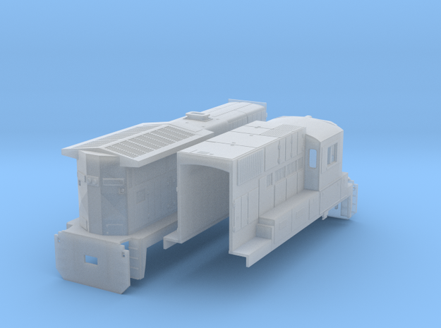 GE C39 8(N/1:160 Scale) in Smooth Fine Detail Plastic