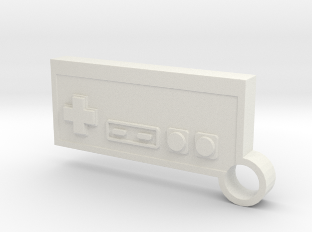 NES Controller Keychain in White Strong & Flexible