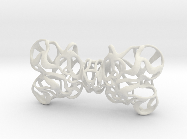 Papillon bow tie unisex in White Natural Versatile Plastic