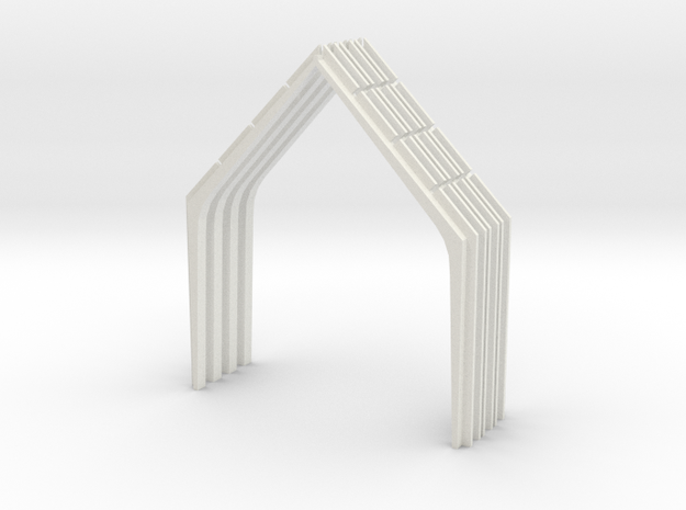 Church Beams in White Natural Versatile Plastic