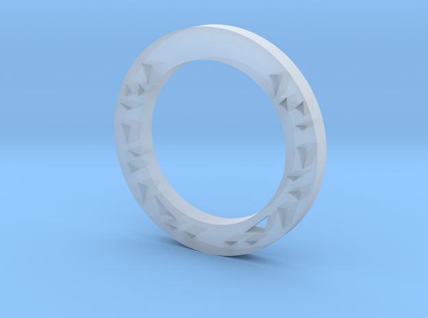 Triangles Ring  in Smooth Fine Detail Plastic