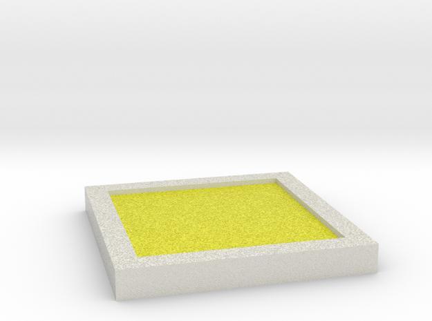Plain Badge - Johto Pokemon Bagdes in Full Color Sandstone