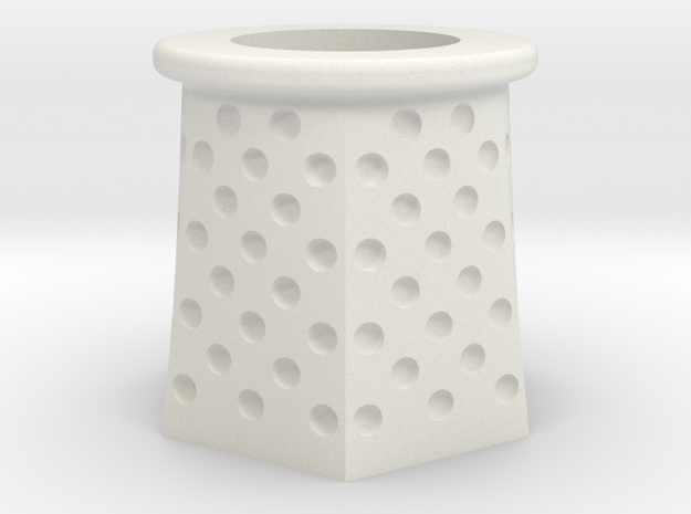 RadarTower - Plinth1 in White Natural Versatile Plastic
