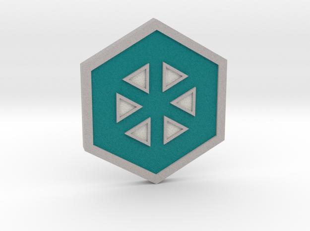 Glacier Badge - Johto Pokemon Bagdes in Full Color Sandstone