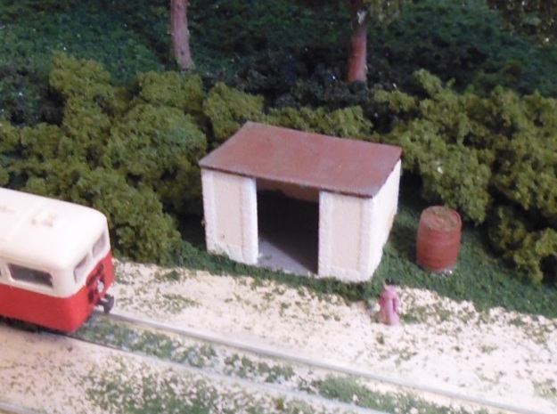 Halt - Roof - Nm - 1:160 in Smooth Fine Detail Plastic