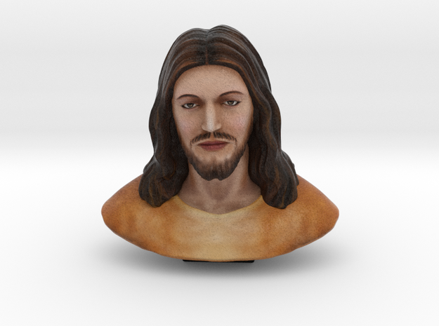 Jesus Christ Figure (1.5 inches - color sandstone) in Full Color Sandstone