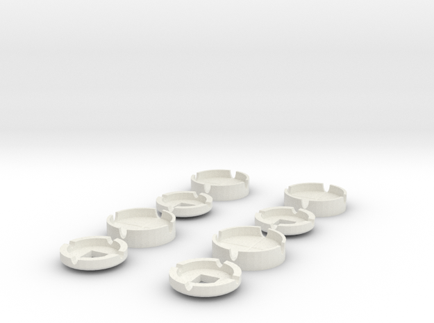 Neopixel Snap Case in White Natural Versatile Plastic