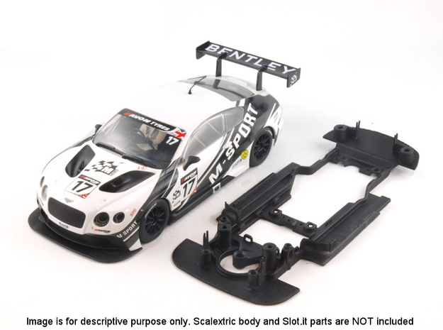 S06-ST4 Chassis for Scalextric Bentley GT3 SSD/STD in White Natural Versatile Plastic