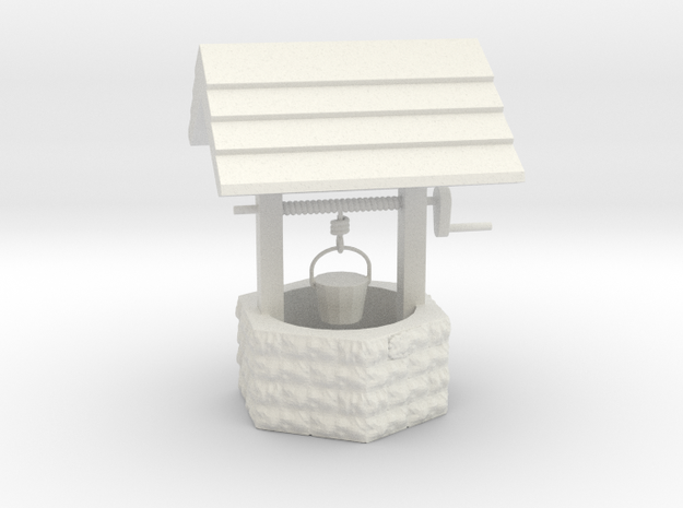 Wishing Well - 'G' 22.5:1 Scale in White Natural Versatile Plastic