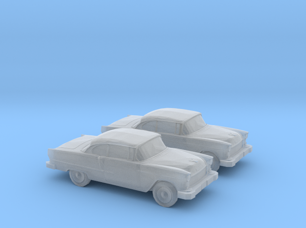 1/160 2X 1955 Chevrolet Belair in Smooth Fine Detail Plastic