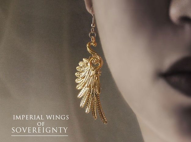 Imperial Wings of Sovereignty Earrings