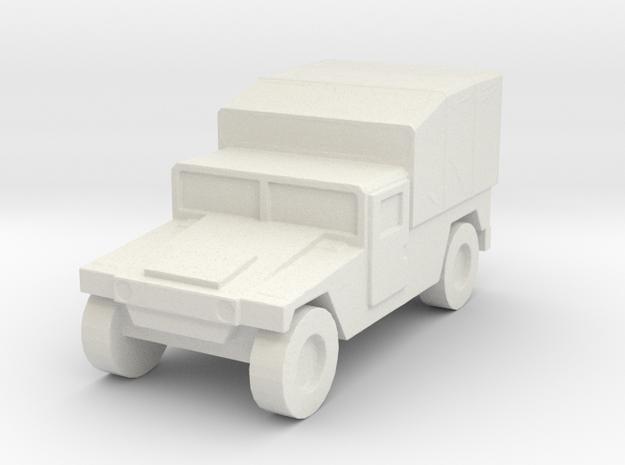 1/144 Humvee M998 tarp canvas high Hummer H1 in White Natural Versatile Plastic