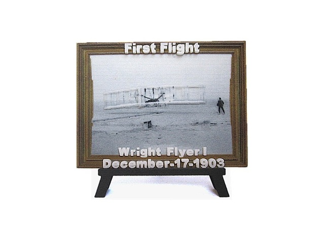 'First Flight' 3D Relief Micro-Painting / Large in Full Color Sandstone