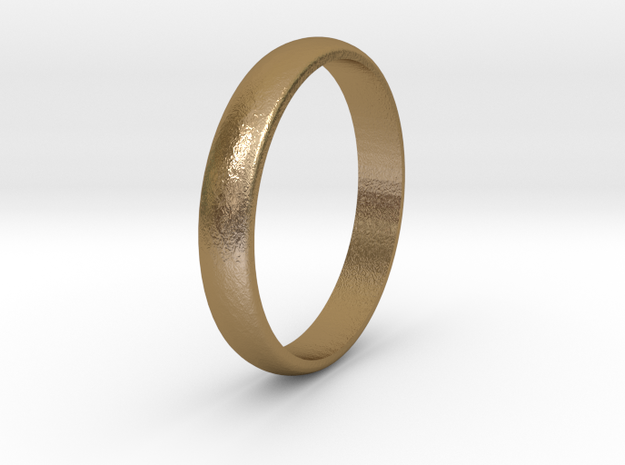 Ring Size 6 smooth in Polished Gold Steel