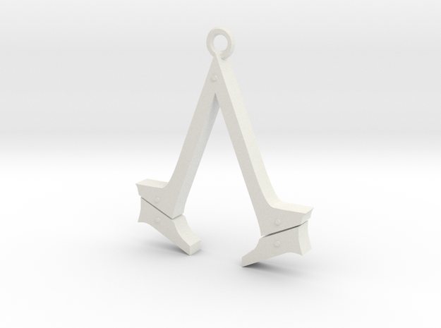 Assassin's Creed Syndicate Logo in White Natural Versatile Plastic