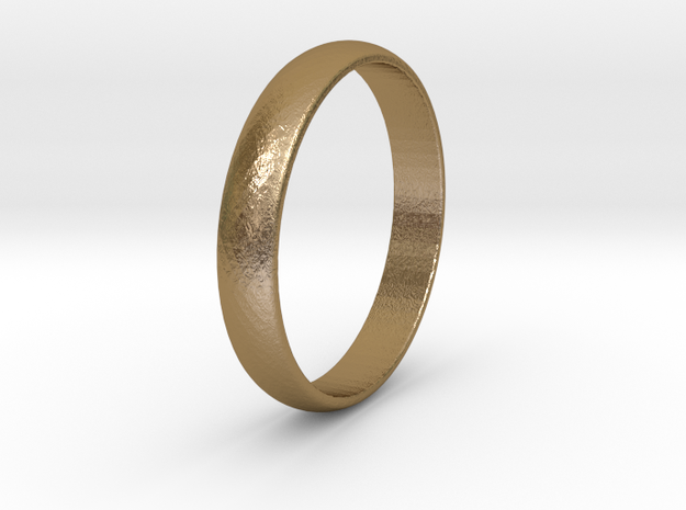Ring Size 10 1I2 smooth in Polished Gold Steel