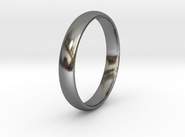 Ring Size 11 smooth in Polished Silver