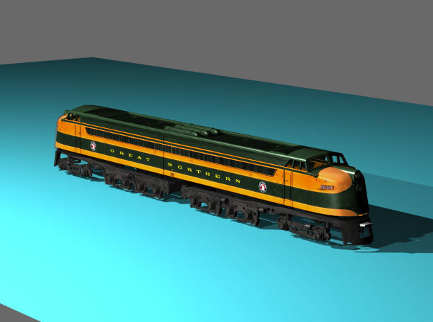 GN W-1 Heavy Electric Great Northern in Smooth Fine Detail Plastic