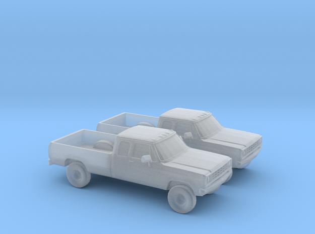 1/160 2X 1976 Dodge Ram Extendet 4x4