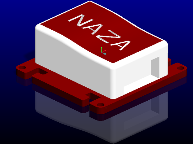 Naza Mount 3d printed