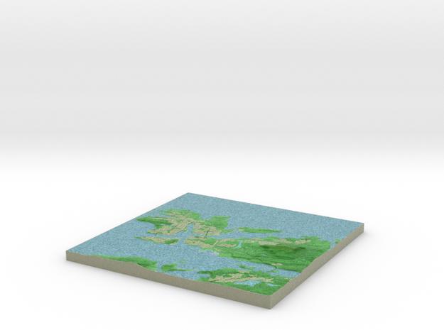 Terrafab generated model Wed Jun 17 2015 16:51:14  in Full Color Sandstone