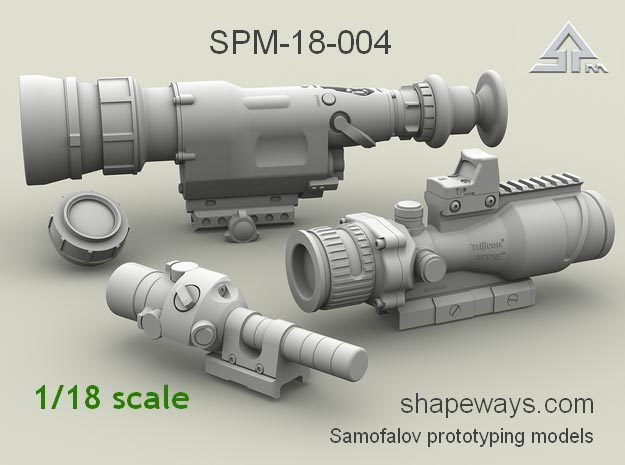 1/18 SPM-18-004 Heavy gun scopes in Frosted Extreme Detail