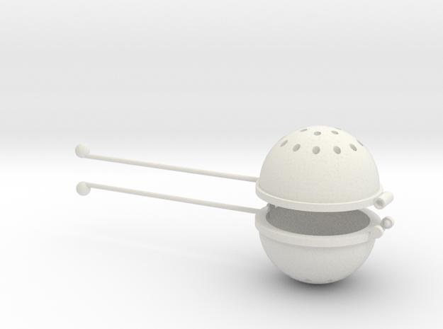 Hot Tea Infuser/Strainer in White Strong & Flexible
