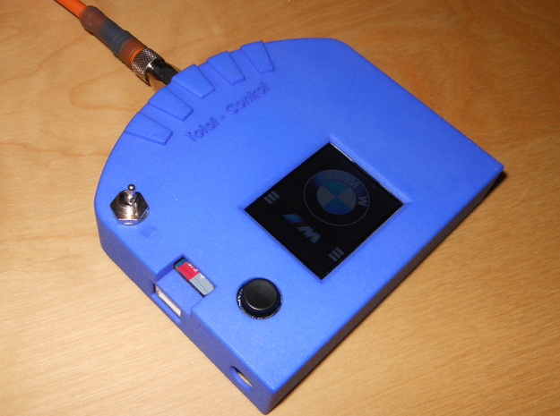 Arduino TFT Gehaeuse Vorderseite in Blue Strong & Flexible Polished